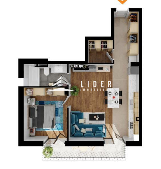 Apartament imobil nou Buna Ziua