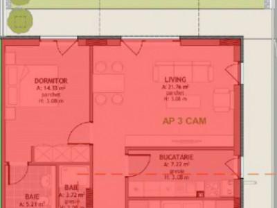 Apartament 3 camere cu gradina zona Borhanci