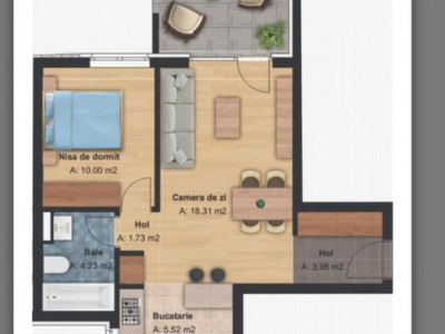 apartament 2 camere imobil noua zona Grand Hill