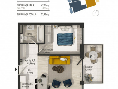 Apartamente 2 camere imobil nou zona Piata Mihai Viteazu